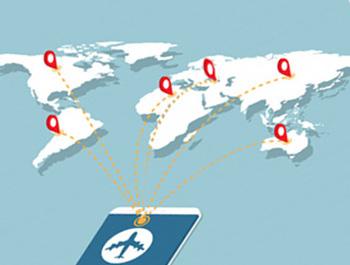 خريطة  طرق المطار الجوية